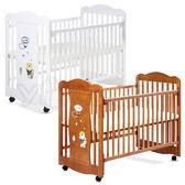L.A. Baby 加州貝比 奧蘭多嬰兒大床/搖擺床/原木床/童床-咖啡色/白色(不附床墊)