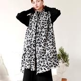 羊毛披肩-豹紋印花薄款保暖女圍巾73wq9[時尚巴黎]