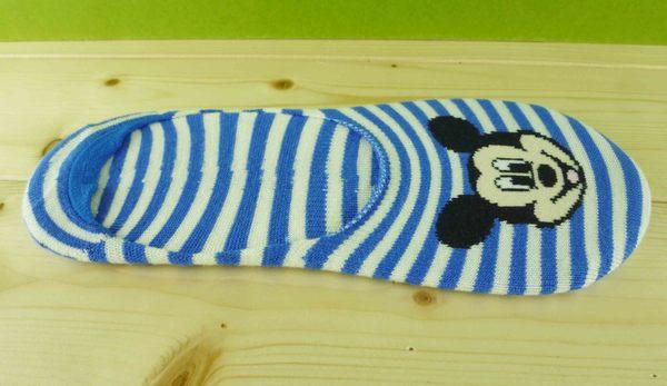 【震撼精品百貨】Micky Mouse_米奇/米妮 ~襪子-船型襪-藍白條紋