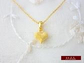 9999純金 黃金 心型 吊墜 墜子 墜飾 項鍊 送精緻皮繩項鍊
