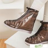 鞋套 男女防滑防雨鞋套防水雨天加厚耐磨底透明便攜式摩托車騎行雨靴套 【快速出貨】