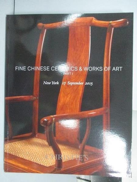 【書寶二手書T3/收藏_PLK】Christie s_Fine Chinese Ceramics…PartI_2015/