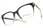 BVLGARI 光學眼鏡 BG4158BF 5450 (漸層黑透明) 蛇頭水鑽設計款 平光鏡框 # 金橘眼鏡