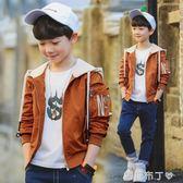 6兒童裝男童秋裝外套新款中大童春秋季夾克男孩上衣10-13歲潮 焦糖布丁