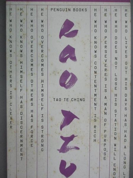 【書寶二手書T2/原文小說_HSV】Great Ideas Tao Te Ching (Penguin Great Id
