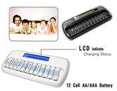 呈現攝影-ROWA 液晶LCD旗艦型12顆充電器 黑色 AA/AAA 可充電1~12顆 單迴路 3/4號 活動紀錄 工作