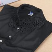 假領子襯衫穿搭假領片 洋裝罩衫大學T針織衫內搭黑白色[E1477] 滿額送愛康衛生棉預購.朵曼堤洋行