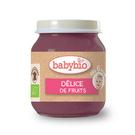 BABYBIO 有機什錦鮮果泥/果泥130ml-法國原裝進口6個月以上嬰幼兒專屬副食品
