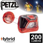 【Petzl 法國 ZIPKA BLACK頭燈《200流明/紅》】E93ABB/頭燈/防潑水/緊急照明燈/登山露營/救難