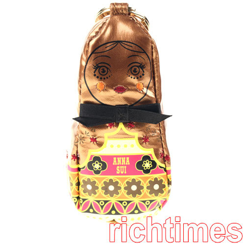 【裕代 ANNA SUI】娃娃鑰匙圈購物包(金) AS1B4523