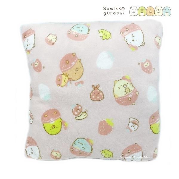 【SAS】日本限定 SAN-X 角落生物 草莓版 保暖 抱枕 / 靠墊 / 坐墊