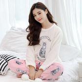 居家孕婦月子服 新款純棉產后孕婦哺乳睡衣法蘭絨喂奶衣 QQ8309『MG大尺碼』
