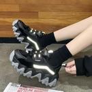 女鞋子2020新款秋冬季老爹鞋女ins潮款加絨爆款運動休閒百搭棉鞋 蘿莉小腳丫