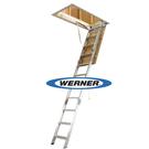 美國Werner穩耐安全梯-AH2512折疊式閣樓梯   適用樓板高度範圍 3.18m~3.66m
