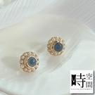 『時空間』回憶環繞淡藍珍珠925銀針耳環