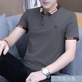 polo短袖高品質棉夏季短袖polo衫男士翻領t恤純棉衣服帶領半袖潮流體 快速出貨