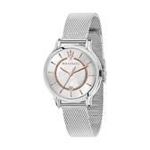 【Maserati 瑪莎拉蒂】EPOCA珍珠貝母三針米蘭腕錶-銀白系/R8853118509/台灣總代理公司貨享兩年保固