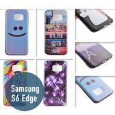 SAMSUNG 三星 S6 Edge 彩繪卡通殼 黑色TPU殼 手機套 保護套 手機殼 保護套 可愛 卡通