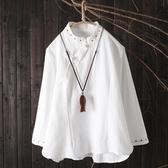茶服 畫續復古禪意中國風立領茶服新款斜襟盤口刺繡寬松復古上衣女 寶貝計畫