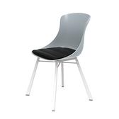 組 - 特力屋萊特 塑鋼椅 金屬一體成型腳架/灰椅背/黑座墊