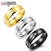 [Z-MO鈦鋼屋]316L白鋼/中性戒指/單鑽/不生鏽/生日禮物/單個價【BKS501】