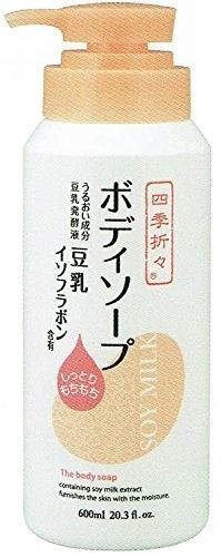 日本 熊野 四季應時 豆乳 保濕 沐浴乳 600ml 【8104】