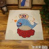 地毯-正方形卡通地毯客廳茶幾墊兒童爬行毯房間床邊毯臥室衣帽間地毯 LM々樂買精品 IGO