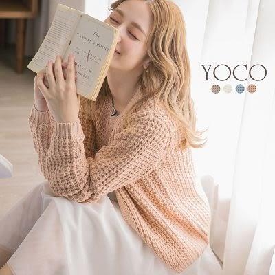 東京著衣【YOCO】多色高雅粗針鏤空開衫外套-S.M.L(171829)