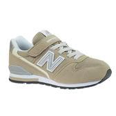 New Balance 中童鞋 卡其 白 男女童鞋 寬楦 復古慢跑鞋 休閒鞋 NB 996 KV996COY