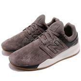 New Balance 慢跑鞋 NB 247 灰 黑 二代 麂皮鞋面 運動鞋 男鞋 女鞋【PUMP306】 MS247LGD