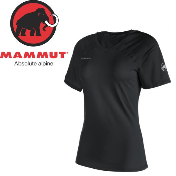 【MAMMUT 長毛象 女款 MTR71 T-SHIRT 短袖T恤《黑》】07790/透氣/彈性/V領★滿額送