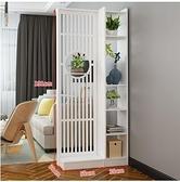 新中式屏風隔斷置物架門客廳裝飾墻簡約現代辦公室網紅進門玄關柜 ATF 夏季狂歡
