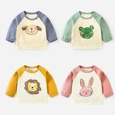 男寶寶打底衫春秋款長袖t恤幼兒春裝嬰兒上衣純棉體恤 炫科技
