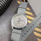 SEIKO 精工 / 4R36-08L0N.SRPG63K1 / 5 Sports 機械錶 舊化風潮 星期日期 尼龍帆布手錶 灰色 40mm