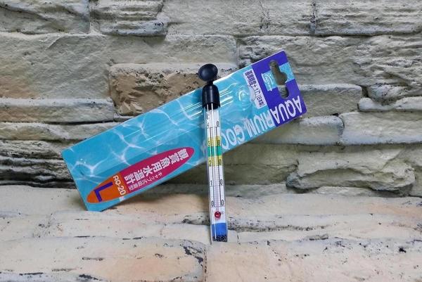 【西高地水族坊】日本原裝NISSO 索尼 觀賞魚用水溫計 迷你透明玻璃溫度計L 15cm