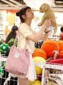 手提袋ulzzang帆布包女單肩文藝小清新學生大容量韓版原宿購物袋 阿卡娜