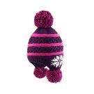 [Polar Star] (女) 雪花造型針織保暖帽 紫 (2290P15624601)