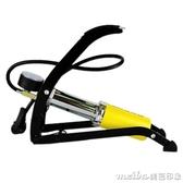 bee高壓單管腳踏打氣筒 汽車電動車摩托自行車腳踩式便攜充氣泵QM 美芭