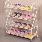 鐵藝簡易創意多層鞋架簡約現代落地宿舍拖鞋架子家用玄關客廳鞋櫃xw