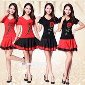 廣場舞新款套裝夏季短袖短裙子跳舞衣服女中老年 SG3647【潘小丫女鞋】