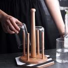 杯架 zakka實木廚房置物架 陶瓷玻璃水杯架馬克杯咖啡杯架廚房收納架子 生活主義
