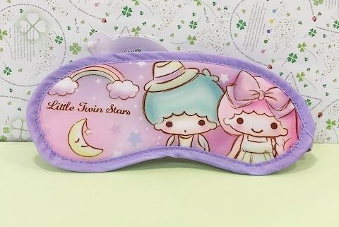 【震撼精品百貨】Little Twin Stars KiKi&LaLa_雙子星小天使~Sanrio眼罩-紫#55807