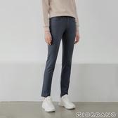 【GIORDANO】女裝中腰標準窄管休閒褲 - 08深灰