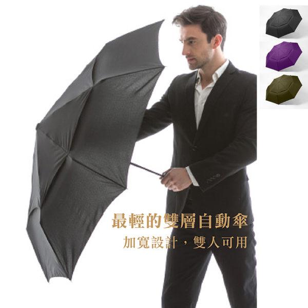 《高仕皮包》【免運費】A.Brolly雙人可用/雙層加大高爾夫疏風自動傘/雙人傘/雨傘