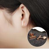 【5折超值價】316L西德鈦鋼最新款時尚精美簡約方條造型女款鈦鋼耳飾