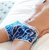 平角內褲純棉莫代爾個性印花韓版青年四角褲頭全棉褲衩潮 歐亞時尚