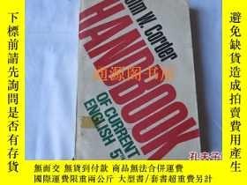 二手書博民逛書店Handbook罕見of Current EnglishY175