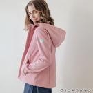 【GIORDANO】女裝Softshell三合一高機能炫彩刺繡連帽外套-90 花紗粉