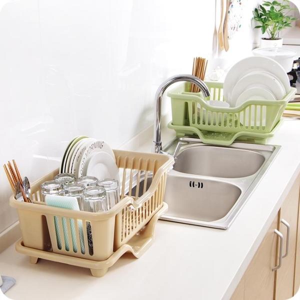 廚房碗架碗筷餐具瀝水收納架子家用用品大全塑料臺面落地置物架