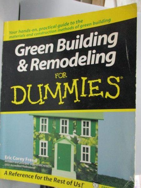 【書寶二手書T5/設計_WFM】Green Building & Remodeling for Dummies_